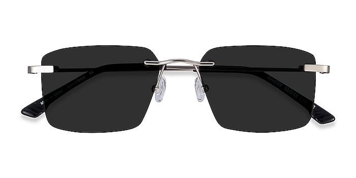 Matte Silver Invent -  Metal Sunglasses