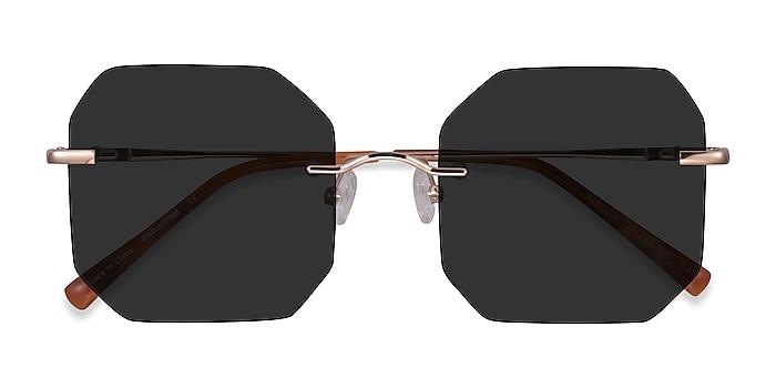 Rose Gold Elmira -  Metal Sunglasses