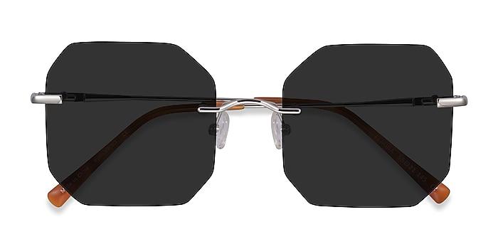 Silver Elmira -  Metal Sunglasses