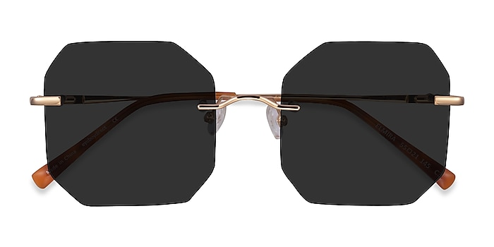 Gold Elmira -  Metal Sunglasses