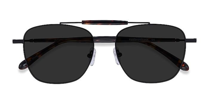 Black Tortoise Jackson -  Metal Sunglasses