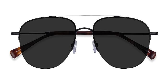 Black Tortoise Garros -  Metal Sunglasses