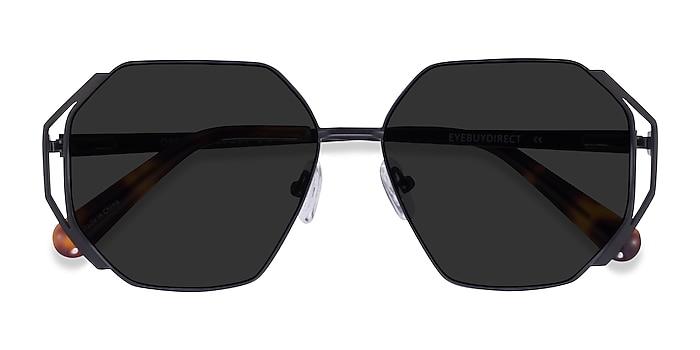 Matte Black Obscura -  Metal Sunglasses