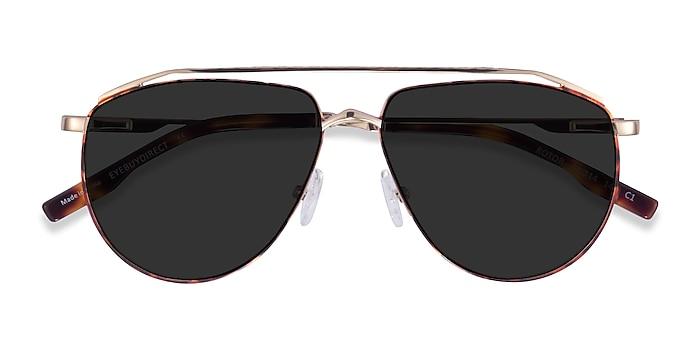 Tortoise Gold Rotor -  Metal Sunglasses