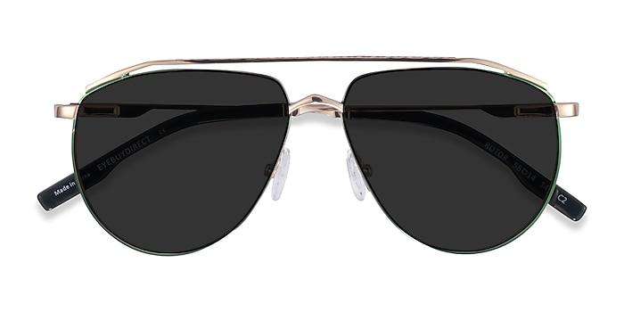 Green Gold Rotor -  Metal Sunglasses