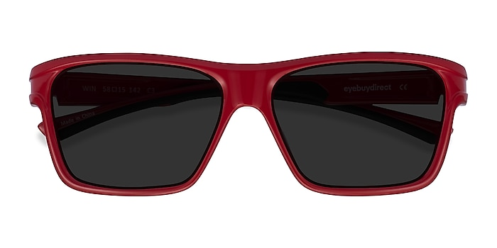 Red & Black Win -  Plastic Sunglasses