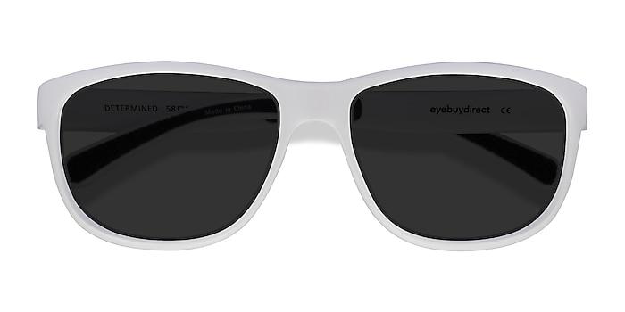 White Determined -  Plastic Sunglasses
