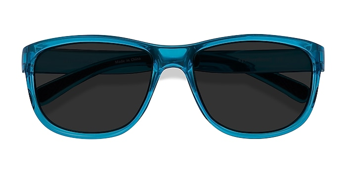 Blue Determined -  Plastic Sunglasses
