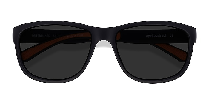 Black Determined -  Plastic Sunglasses