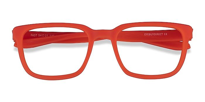Matte Orange Fast -  Plastique Lunettes de vue