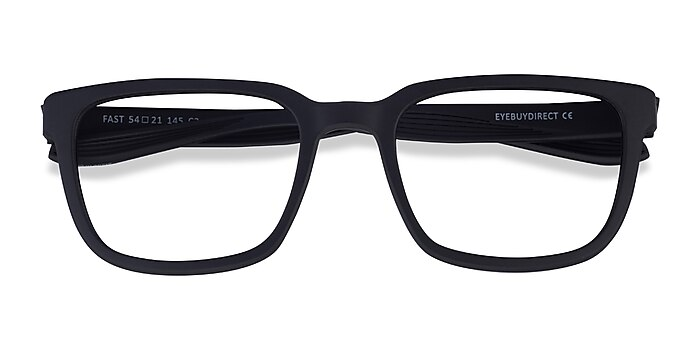 Matte Black Fast -  Plastic Eyeglasses