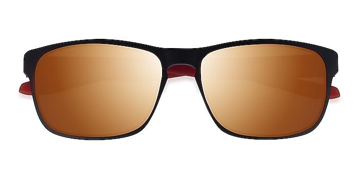 Matte Black Orange Kick -  Plastic Sunglasses