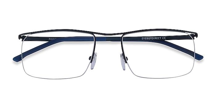 Navy Point -  Metal Eyeglasses