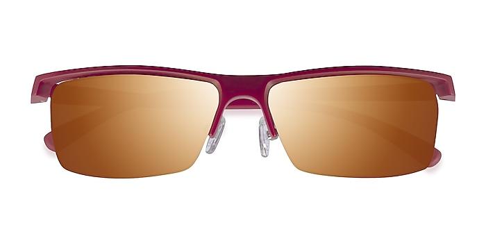 Matte Red Turnover -  Plastique Lunettes de soleil
