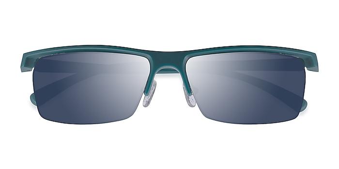 Matte Teal Turnover -  Plastic Sunglasses