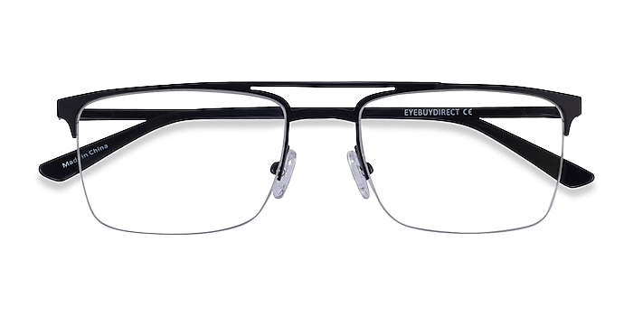Black Huddle -  Metal Eyeglasses