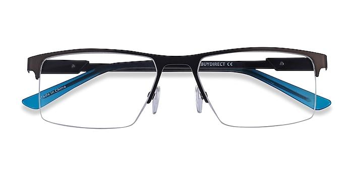 Brown  Blue Interception -  Metal Eyeglasses