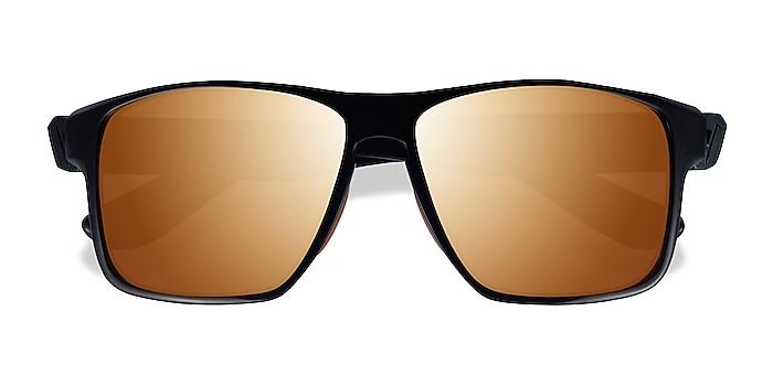 Black Orange Running -  Plastic Sunglasses