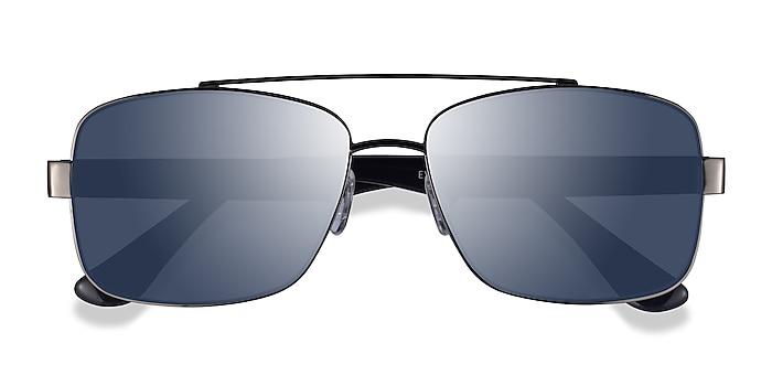 Gunmetal Black Center -  Metal Sunglasses