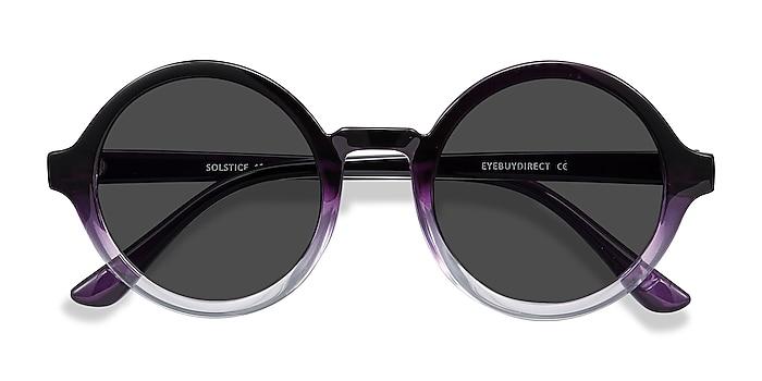 Purple Clear Solstice -  Plastic Sunglasses
