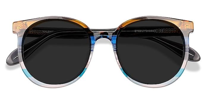 Brown Blue Valence -  Acetate Sunglasses