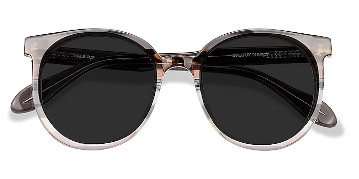 Gray Brown Valence -  Acetate Sunglasses