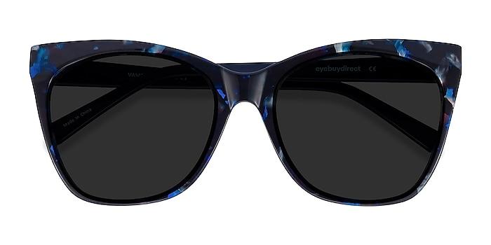 Blue Floral Vamp -  Acetate Sunglasses