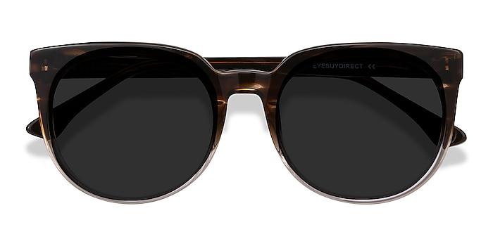 Brown Striped Queen -  Acetate Sunglasses