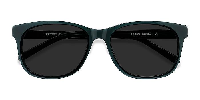 Green Borneo -  Vintage Acetate Sunglasses