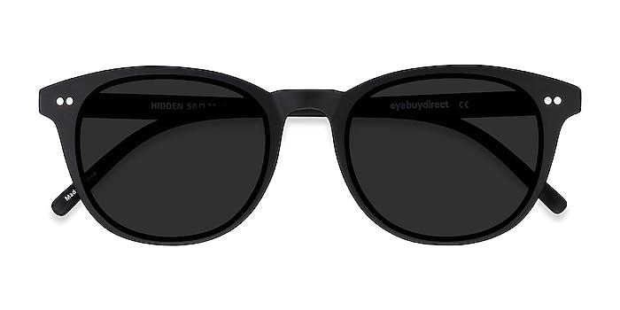 Black Hidden -  Vintage Plastic Sunglasses