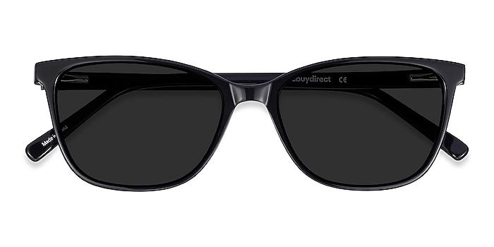 Black Halle -  Vintage Acetate Sunglasses