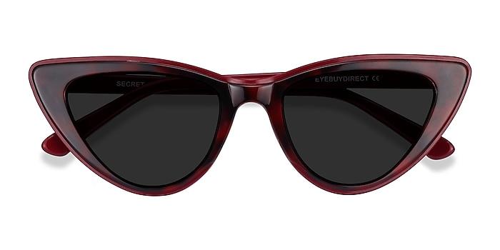 Burgundy Tortoise Secret -  Acetate Sunglasses