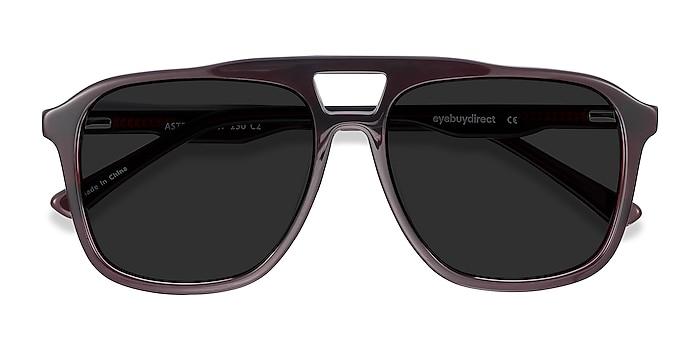 Dark Burgundy Aster -  Acetate Sunglasses