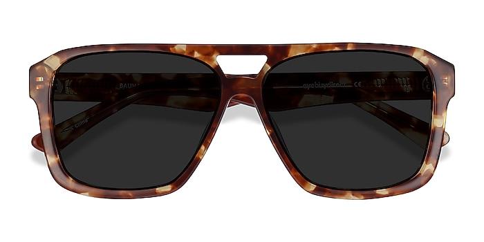 Havana Tortoise Bauhaus -  Vintage Acetate Sunglasses