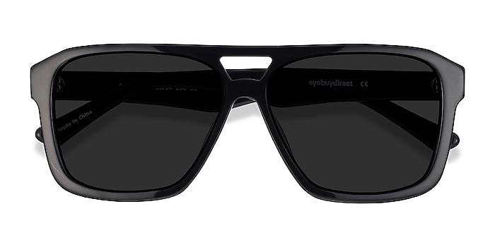 Black Bauhaus -  Vintage Acetate Sunglasses