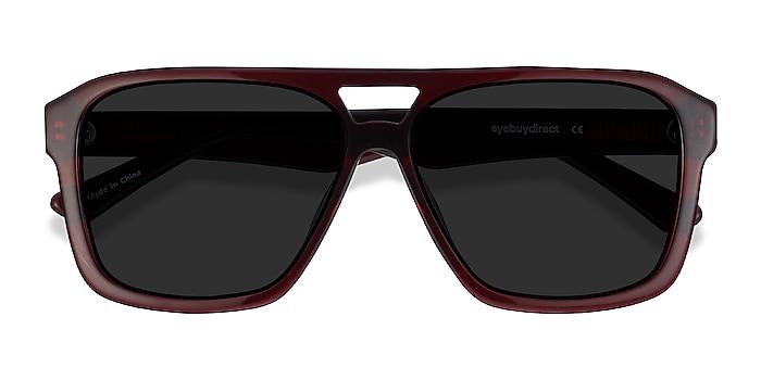 Burgundy Bauhaus -  Vintage Acetate Sunglasses