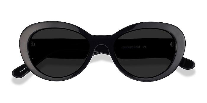 Black Elle -  Vintage Acetate Sunglasses