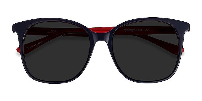 Navy & Red Celebration -  Acetate Sunglasses