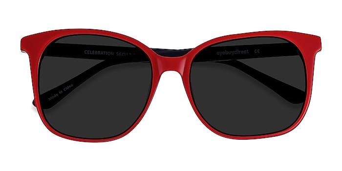 Red & Navy Celebration -  Acetate Sunglasses