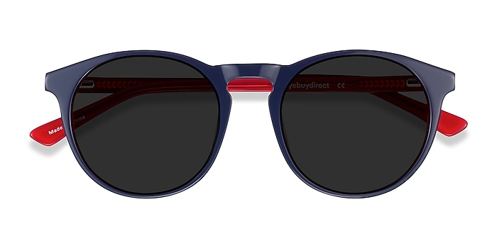 Navy & Red Monument -  Acetate Sunglasses