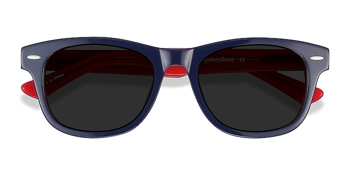Navy & Red Parade -  Acetate Sunglasses