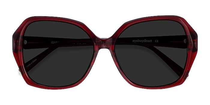Burgundy Isabella -  Vintage Acetate Sunglasses