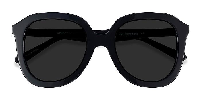 Black Wendy -  Vintage Acetate Sunglasses
