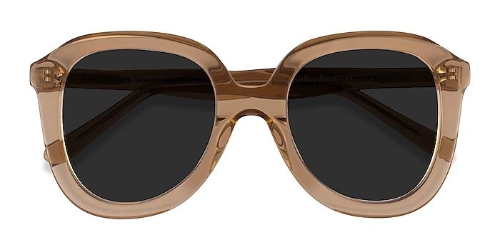 Clear Brown Wendy -  Vintage Acetate Sunglasses