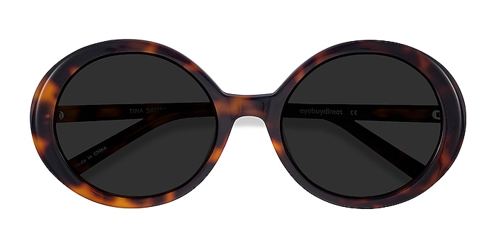 Tortoise Tina -  Vintage Acetate Sunglasses