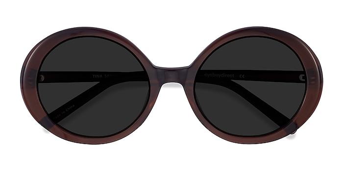 Coffee Tina -  Vintage Acetate Sunglasses
