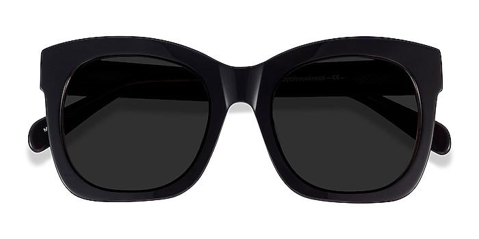 Dark Coffee Claudette -  Acetate Sunglasses
