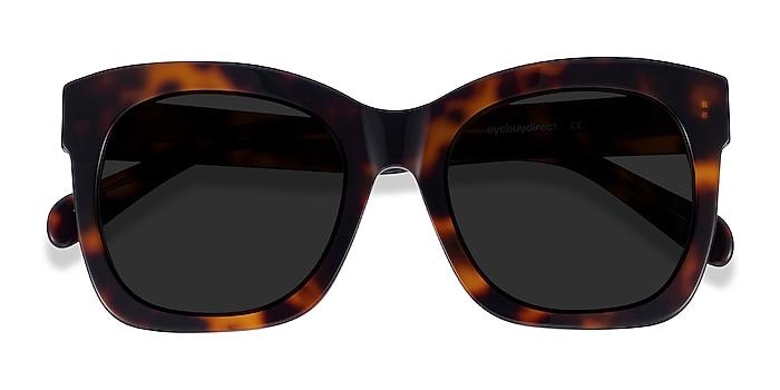 Tortoise Claudette -  Acetate Sunglasses