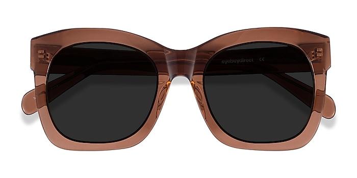 Clear Brown Claudette -  Acetate Sunglasses