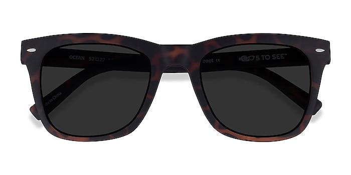 Warm Tortoise Ocean -  Plastic Sunglasses